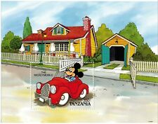 Tanzania - Disney, The Mickeymobile - Souvenir Sheet MNH