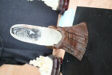 6'' Natural white Rock Crystal Quartz handwork treasure Maitreya Buddha statue