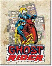 Ghost Rider Comic Book Cover Splash TIN SIGN Marvel Comics Wall Art Poster