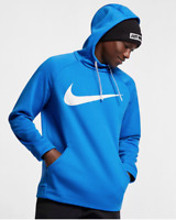 Nike Therma Swoosh Men's Pullover Training Hoodie 931991 Blue White size M L XL