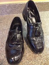 Florsheim Leather Wingtip Kilt Tassel Loafers Shoes Black Dress Men's Sz 8.5D *B