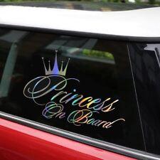 Princess Baby On Board 16.5*10.9CM Car Sticker Car Decal Reflective Laser Vinyl