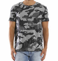 Authentic Valentino Camouflage Rockstud T Shirt Size XL Grey