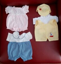 Lot Of 3 Vintage Cabbage Patch preemie doll clothes, 2 boys, 1 girl, Excellent