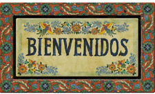 Door Mat 18 x 30 in. Bienvenidos Multi-Color Recycled Rubber Welcome Patio Entry