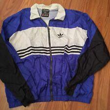 VINTAGE ADIDAS breakdance B Boy Rap Hip Hop track jacket XL Run DMC Trifold