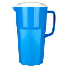 Plástico Jarra 2 Litros Jarra con Tapa Azul Polipropileno Nevera Leche Agua 2L