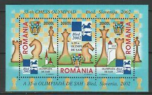 Romania 2002 Chess MNH Block
