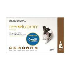 Revolution for Small Dogs 5-10kg 6 Pack Brown monthly heartworm and worming
