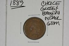 1889 INDIAN HEAD CENT 1c CHOICE BU GLOSSY BROWN NEAR GEM