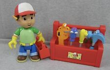 Handy Manny Figure and Talking & Dancing Toolbox w/ 5 Tools Mattel Lot