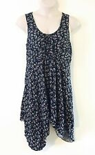 PLUS SIZE 18 AUTOGRAPH ~ Pretty Navy Blue Floral Sun Dress ~ On Trend Festival