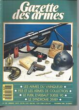 GAZETTE DES ARMES N°183 FR3 ET ARMES DE COLLECTION / FUSIL D'ASSAUT SUISSE 90