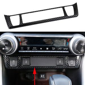 For Toyota RAV4 2019 2020 Carbon Fiber Center Control Seats Heating Cover Trim