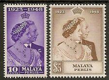 MALAYA PERLIS 1948 SILVER WEDDING SG1/2 MNH