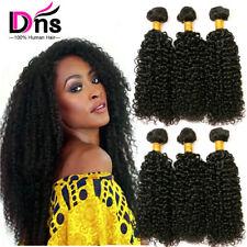 8A Kinky Wave Curly 300g 3 Bundles Virgin Human Hair Extensions Weave UK-STOCK
