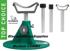 Medium Combo Hoofjack by Equine Innovations Hoof Jack Green Farrier Stand w/ Dvd