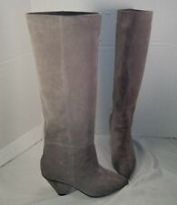 NEW JEFFREY CAMPBELL SENITA MODERN TAUPE SUEDE SLOUCH BOOTS US  7 MSRP $248.00