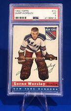1954-55 Topps Lorne Gump Worsley Card #10 Graded PSA 3 New York Rangers Goalie