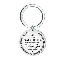 Cute Daughter Love You Mom Key Chain Stainless Steel Keyring Keyfob Xmas Gift