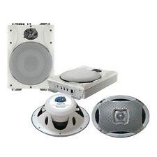 Lanzar Super Slim Active Amplified Waterproof Subwoofer System+ Marine Speakers
