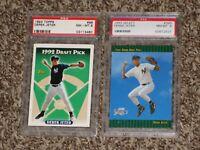 Derek Jeter 1993 Topps + Select RC PSA 8 Rookie Card Bundle Lot # 98 360 NYY HOF