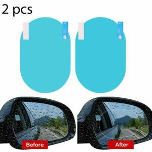 2pcs Car Rearview Mirror Anti Rain Anti Fog Waterproof Transparent Film