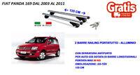 KIT BARRE PORTATUTTO PORTABAGAGLI PORTAPACCHI PREMONTATE FIAT PANDA II 2003>2011