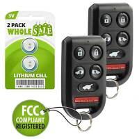 2 For 2005 2006 2007 2008 2009 2010 Honda Odyssey Keyless Van Remote Key Fob