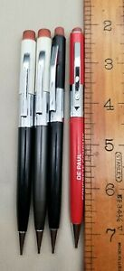 LOT OF 4 SCRIPTO MECHANICAL PENCILS; 2 ARE No.100 MADE IN USA & 2 MADE IN KOREA