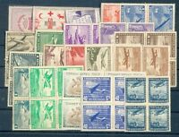CHILE 20 DIFFERENT BLOCK OF 4 STAMPS LOT MNH VF