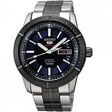 Seiko SRP343 Men's 5 Sports Black & Blue Dial Automatic Steel Bracelet Watch