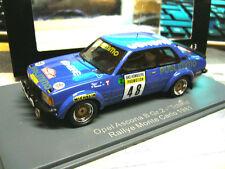 Opel Ascona B taille 2 RALLYE MONTE CARLO 1981 publimmo Venere Tchine Neo RAR 1:43