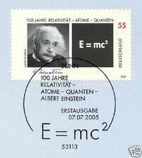 BRD 2005: Albert Einstein Nr. 2475 mit sauberem Bonner Ersttagsstempel! 1A! 1712