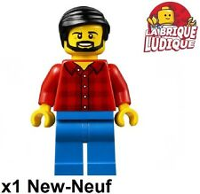 Lego - Figurine Minifig dad papa homme barbe beard flannel shirt cty664 NEUF