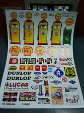 G LGB 1:24 Scale Period Garage Building Warning Notice Signs Railway Stickers