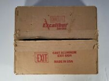 Dual Lite Excalibur Series Exit Sign Open Box Untested