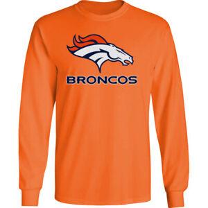 Denver Broncos Long T-Shirt Graphic Men Cotton DEN