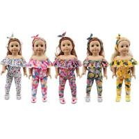 1 set Doll Clothes for 18inch  Girl Fashion Pink Floral Ballet Dre Top