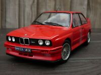 LEGEND OLD SCHOOL NICE GRILLE 1:18 Red BMW M3 E30 1990  M Power Toy Model Car