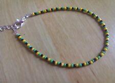 Gemma's Jamaican inspired bead anklet/ankle bracelet