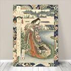 "Beautiful Japanese GEISHA Art ~ CANVAS PRINT 36x24"" Yamashiro River Sadacage #1"