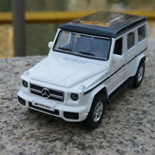 Alloy Diecast Model Cars Mercedes-Benz G63 AMG Pull back 1:35 Toys gifts White