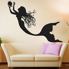 Vinyl Wall Decal Mermaid Nursery Girls Room Under The Sea Ocean Sticker Decor
