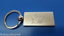 PERSONALISED DRUM KIT KEYRING, ENGRAVED WITH YOUR MESSAGE, DRUMMER GIFT
