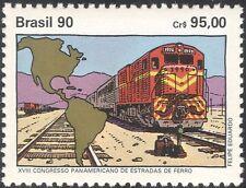 Brazil 1990 Trains/Locomotives/Rail/Railways/Map/Transport 1v (n26452)