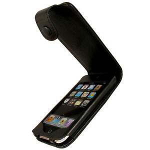 Black Leather Case for Apple iPod Touch 2nd 3rd Gen 2G 3G iTouch Cover Holder