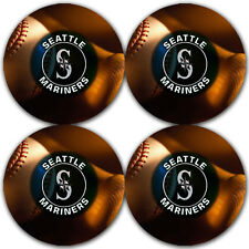 Seattle Mariners Baseball Rubber Round Coaster set (4 pack) / RNDRBRCSTR2024