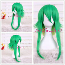 Vocaloid GUMI mix Green yellow Fluffy Cosplay hair Wig CC124+a wig cap