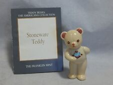 1991 Franklin Mint Teddy Bears The Americana Collection Stoneware Teddy